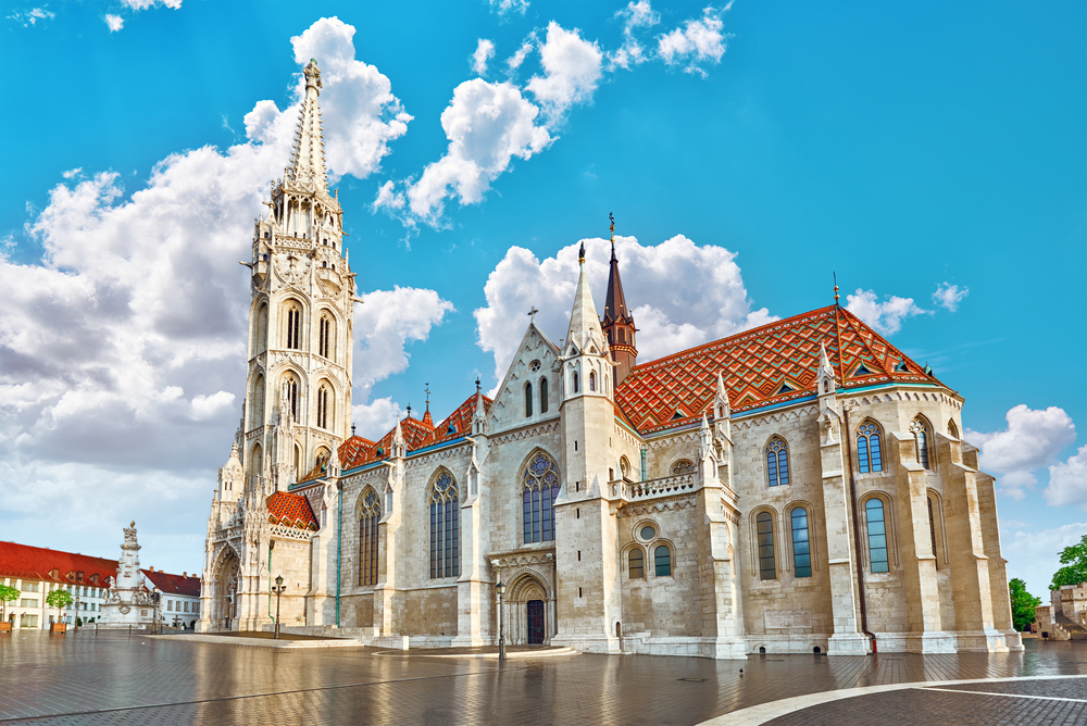matthias Church is on top of Castle Hill in Budapest