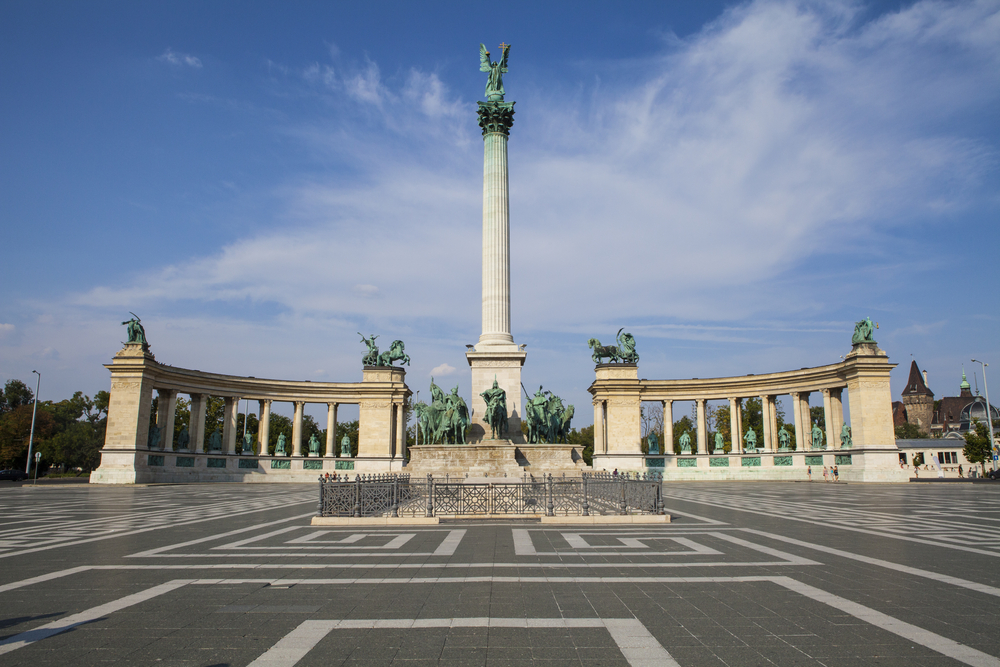 Freedon Square is a monument to see when traveling to Budapest