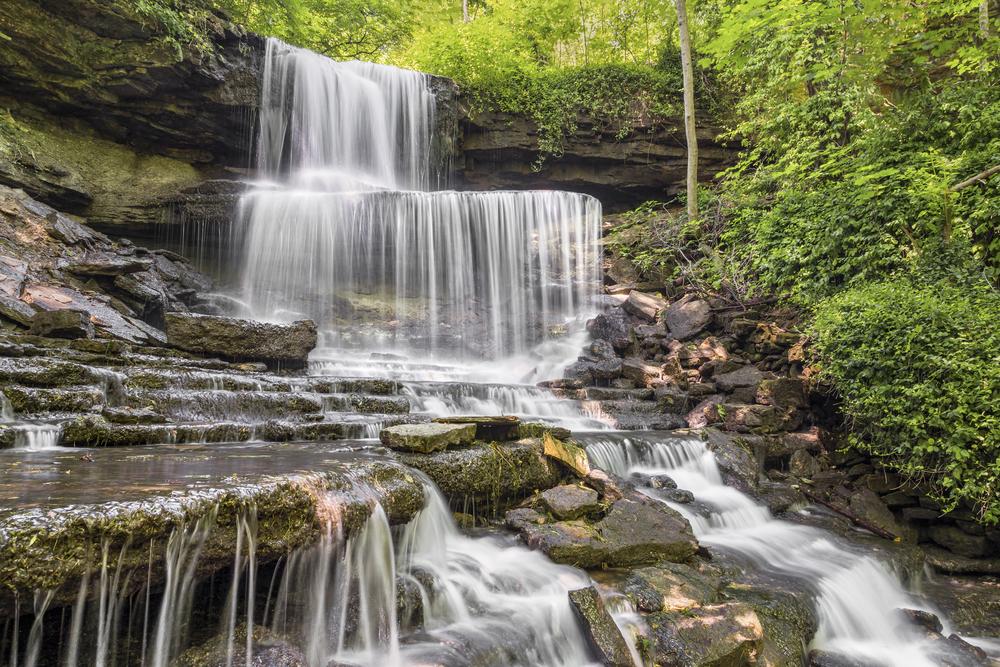 West Milton Cascades in an Ohio hidden gem