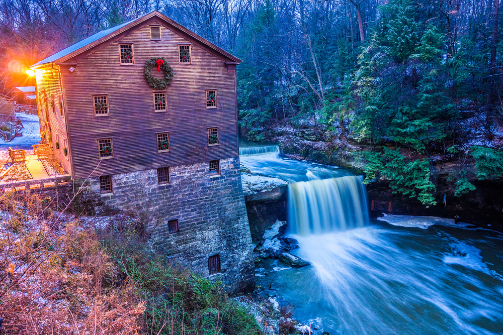 Lanterman's Falls energy is still used today to grind grains into flour and is one of the interesting things to do in Youngstown