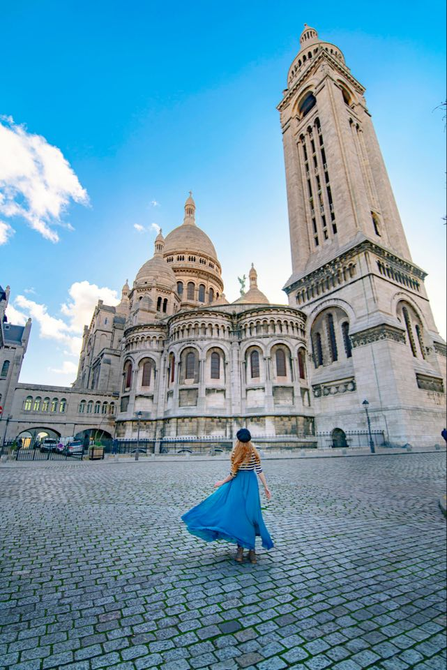 The rear of Sacre Couer Basilica is a great Paris instagram spots