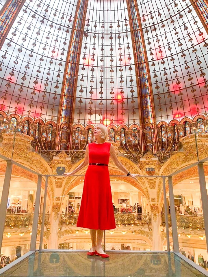 The glass dome in Galleries Lafayette is one of the unusual places in visit in paris