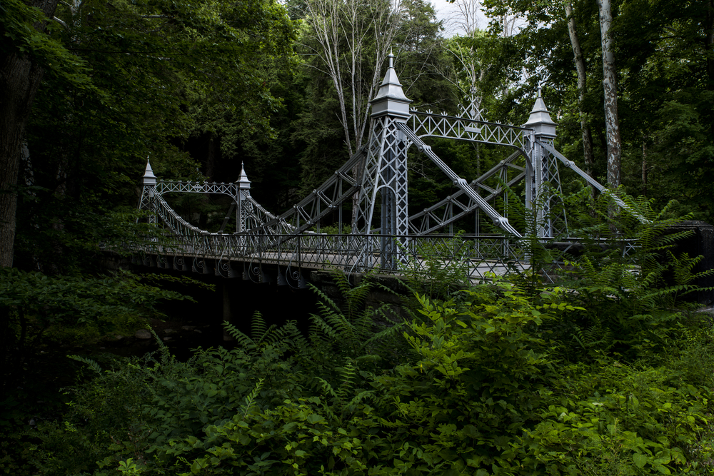 The iconic historical suspension bridge in Youngstown Ohio is an insta-worthy location
