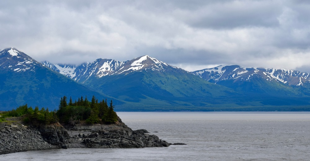 The Alaska views are outstanding