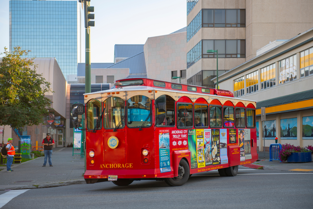 One of the fun things to do in Anchorage is ride the trolley