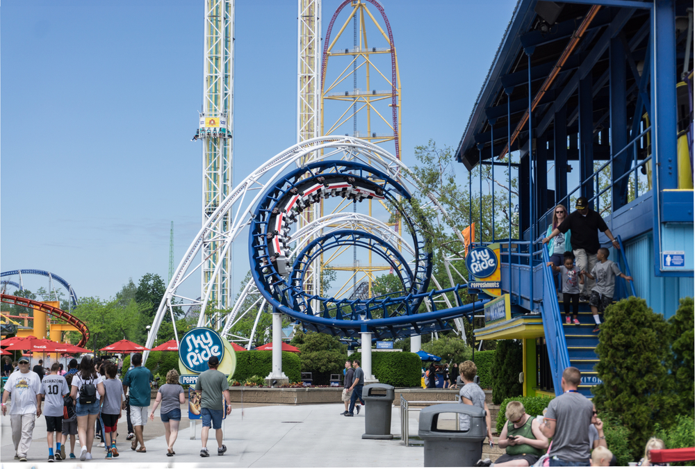 Cedar Point in Ohio will provide you with chills and thrills with its roller coasters