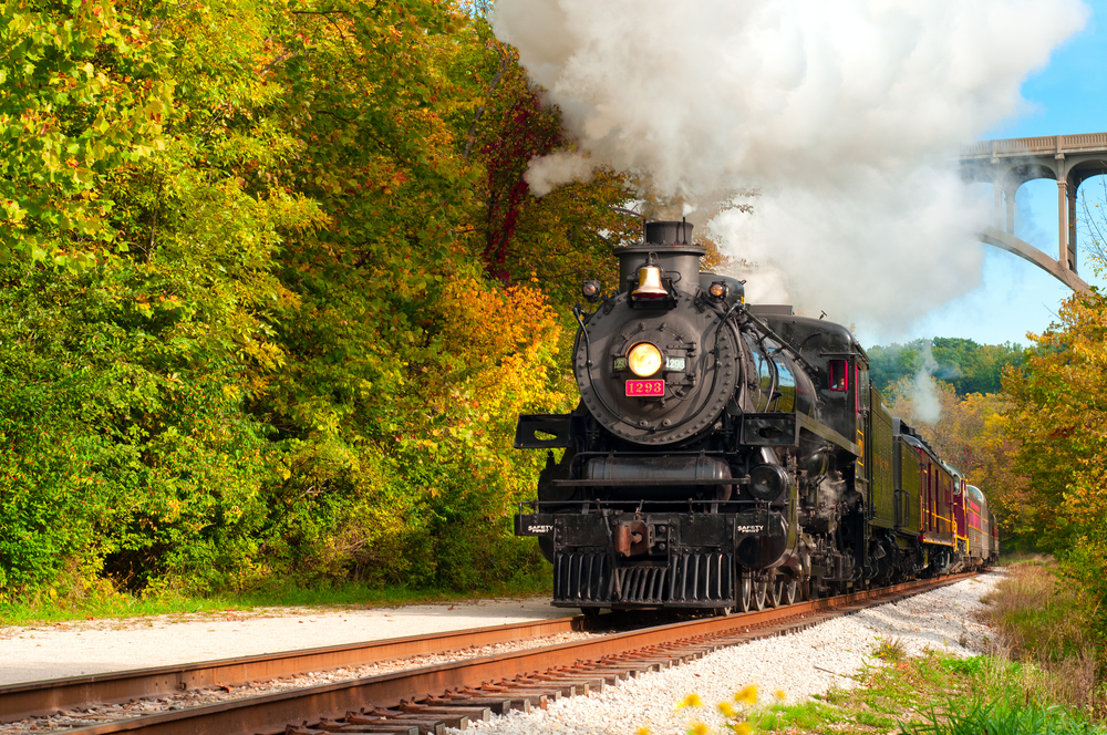 Riding the Cuyahoga Valley Scenic Railroad is a fun thing to do in Ohio