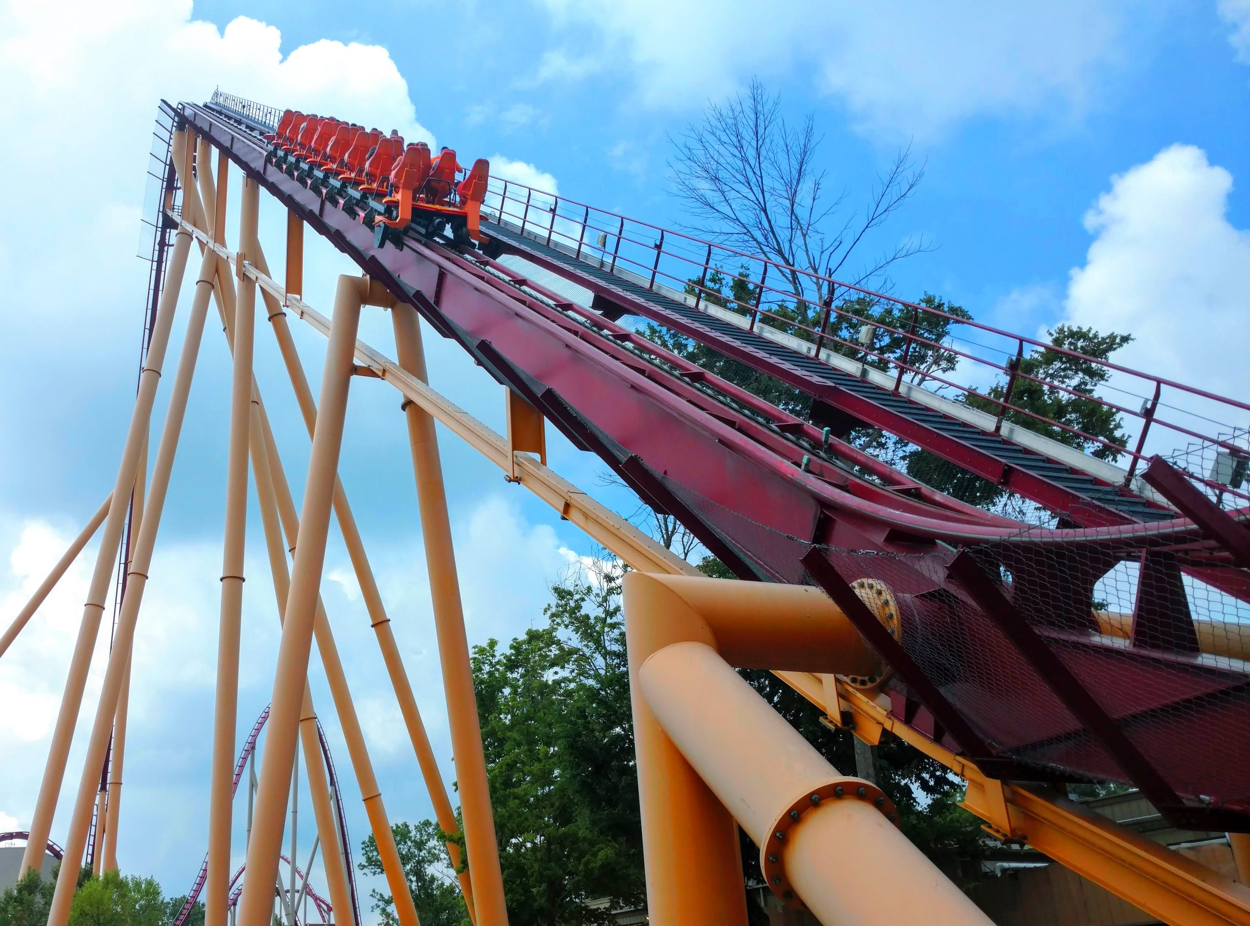 Kings Island is the largest amusement park in the midwest with 9 miles of coasters!