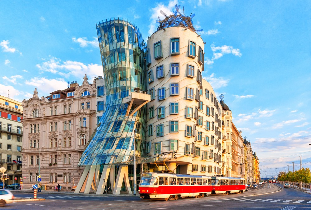 Do not miss the Dancing house in New Town when traveling to Prague