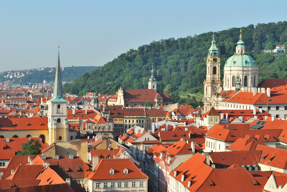 The iconic orange Prague rooftops during your 2 days in Prague visit