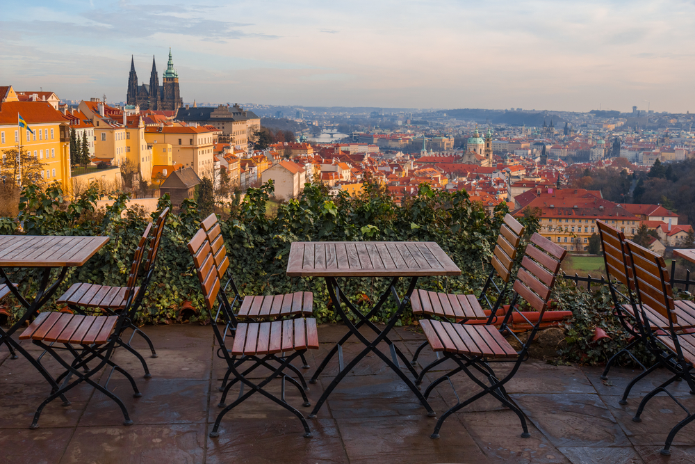 traveling to prague means eating at romantic restaurants
