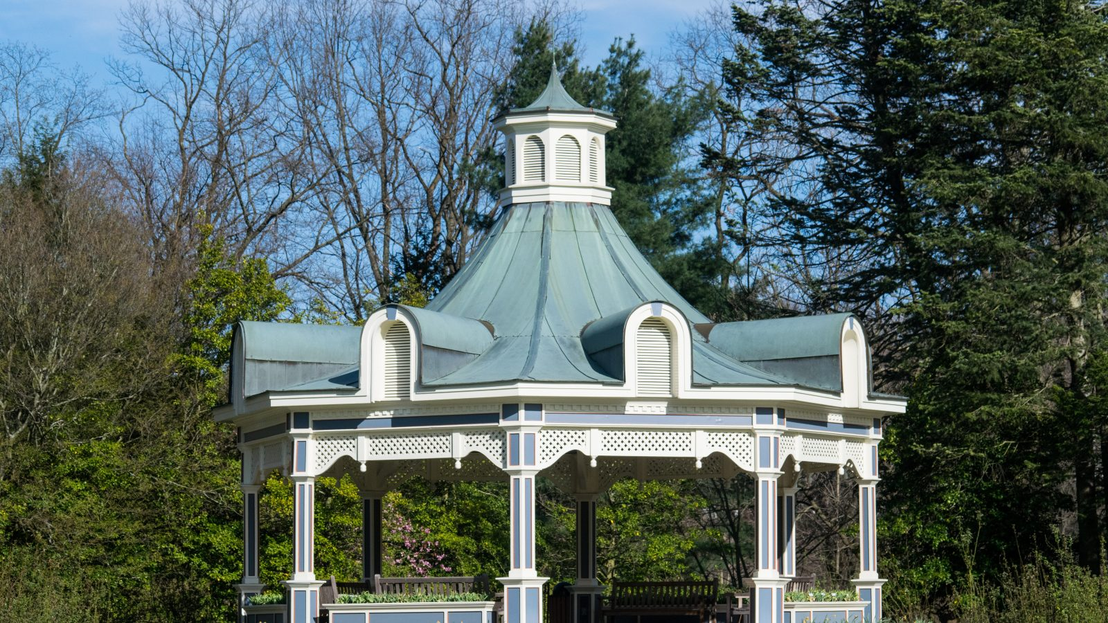 This beautiful gazebo is located in Fellows Riverside Gardens in Mill Creek Park