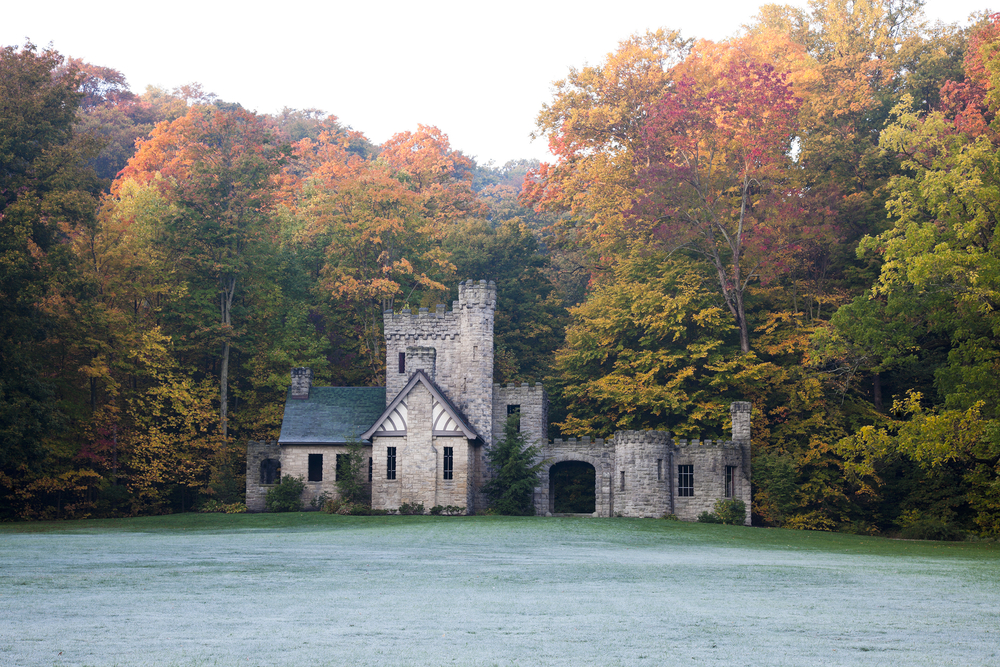 Beautiful Squire's Castle in Willoughby Ohio in autumn