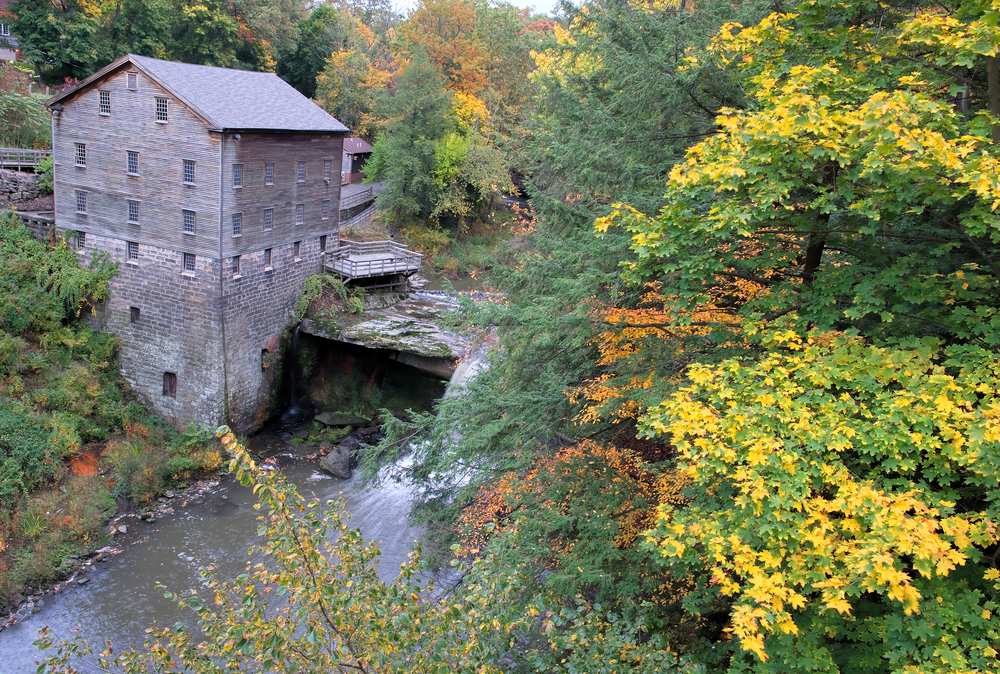 Lanterman's Mill is a great place to see fall foliage in Ohio