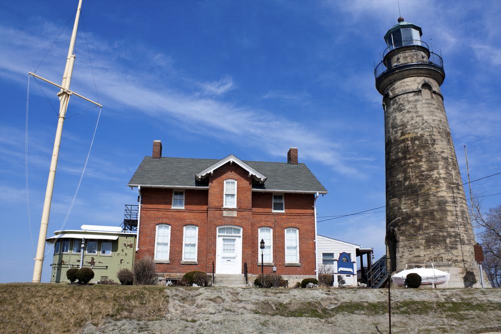 A feline presence is felt at the Old Fairport Lighthouse