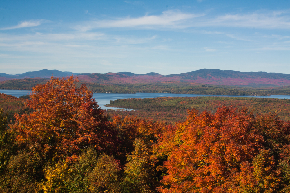 Rangeley fall roalige road trip reward- blazing fall foliage!