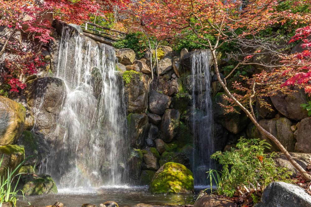 Photo of waterfalls in Rockford, Illinois in Autumn.
