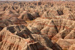 beige and red rocks of the Badlands Midwest weekend getaways
