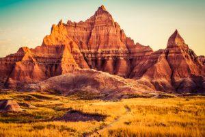 striking red rock peaks of the Badlands Midwest weekend getaways