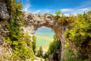 rock arch on Mackinac Island