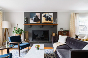 living room with dog photos Airbnbs in Virginia
