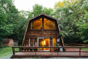 exterior of barn cabin