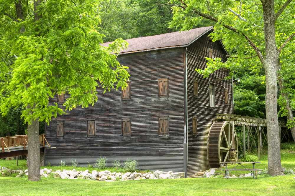 Loudinville is one of the best romantic getaways in Ohio with its historic wooden grain mill