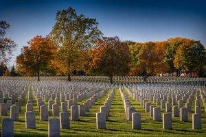 Ohio cemetery in the fall