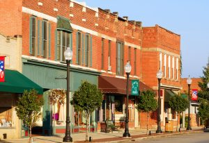 brick buildings of Bedford towns in Ohio