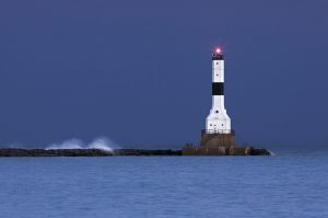 unique lighthouse in Conneaut towns in Ohio
