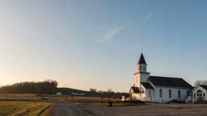 secluded steepled church towns in Ohio