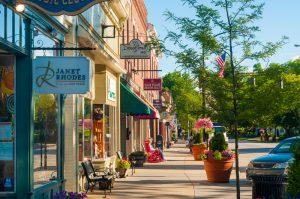 pastel storefronts of Hudson