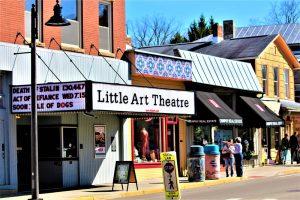 quaint theater on main street of Yellow Springs