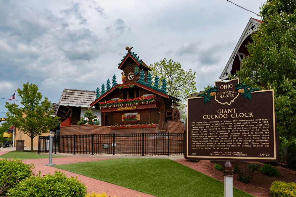 Giant Cuckoo Clock in Amish Country Ohio