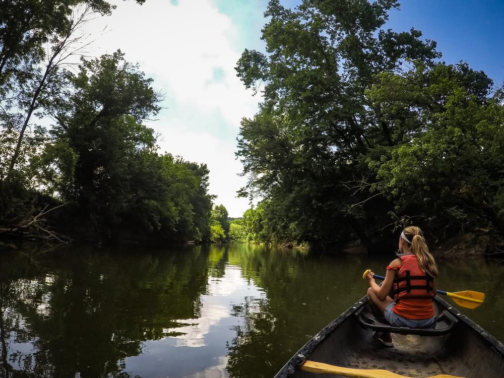 a girl canoeing