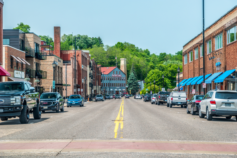 The main street in Stillwater Minnesota