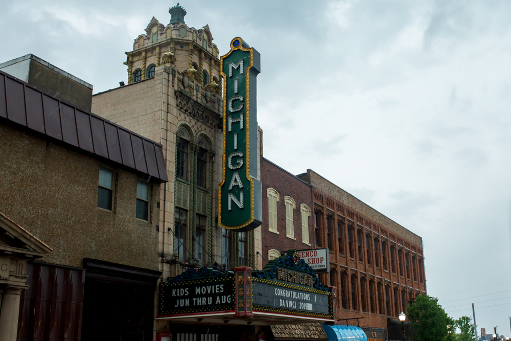 The architecture in Jackson Michigan a small town