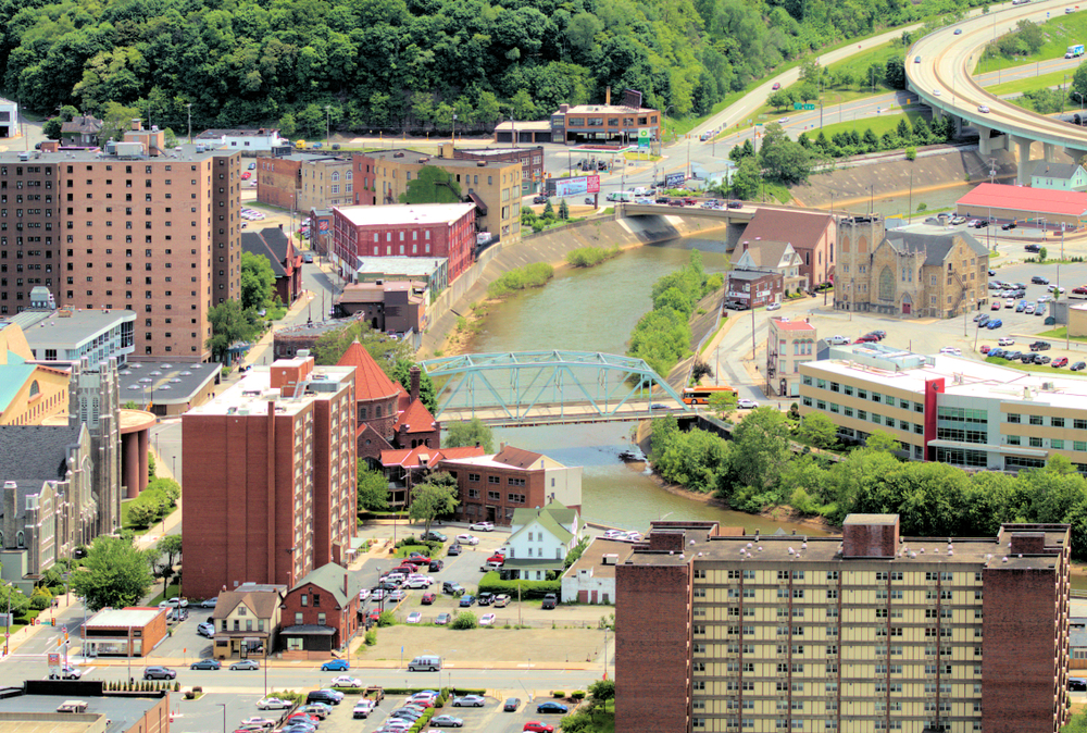 Johnstown Pa from the Inclined Plane.