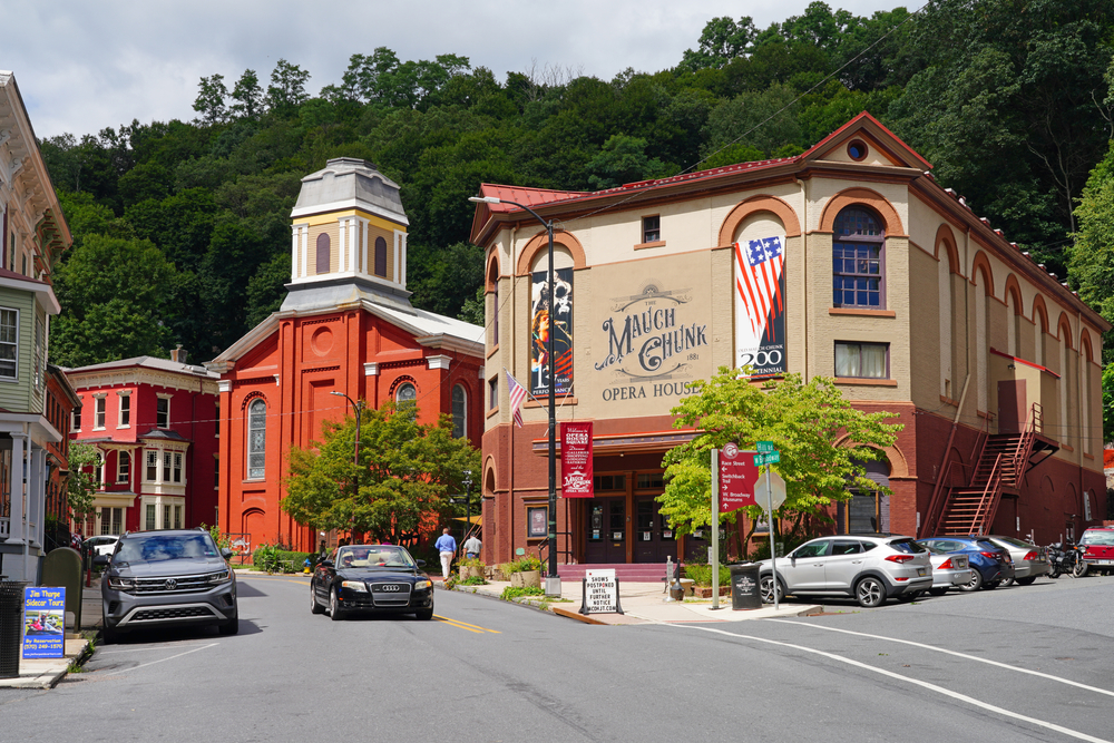 Jim Thorpe one of the beautiful small towns on Pennsylvania