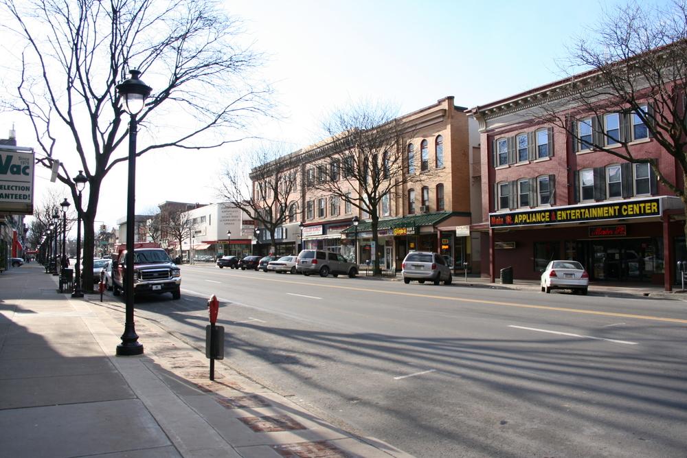 Main Street in Stroudsburg a small town in Pennsylvania